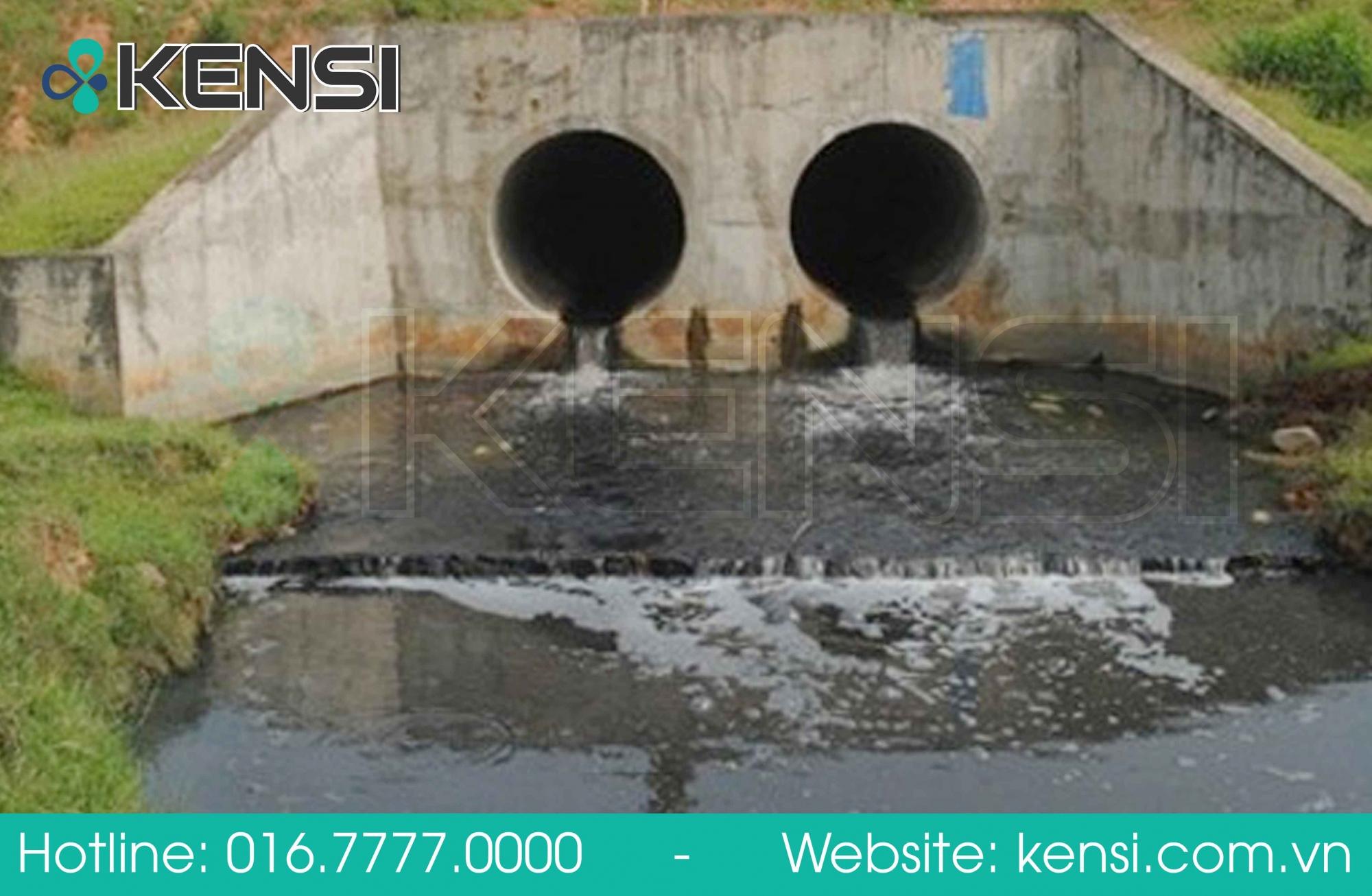 Nước thải khu công nghiệp chưa qua xử lý đã xả ra môi trường