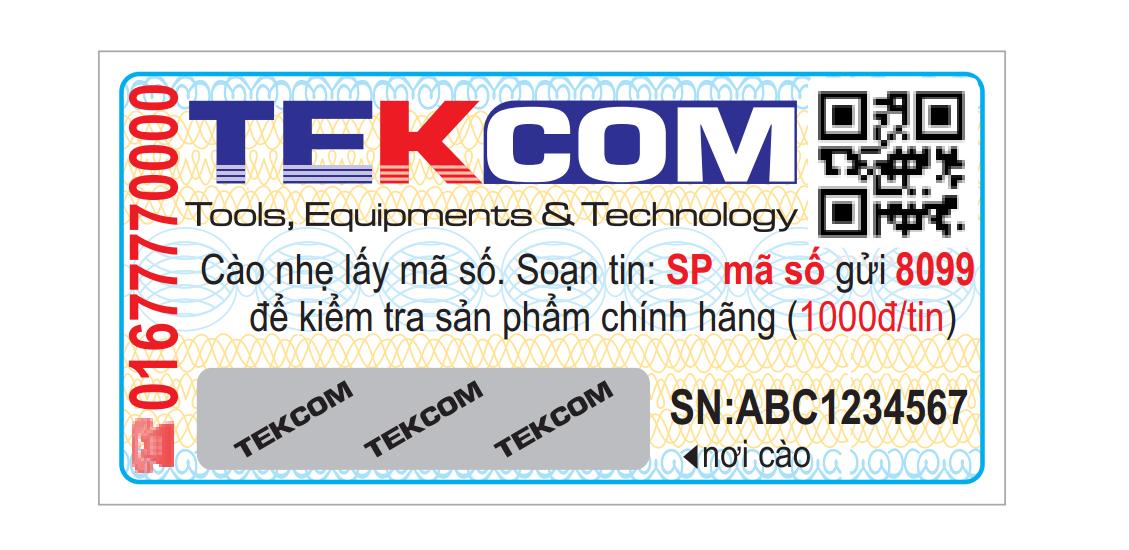 Tem cào xác thực sản phẩm máy lọc nước chính hãng công ty Tekcom