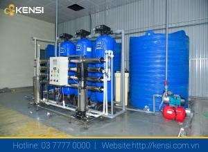 Hệ thống lọc nước công nghiệp xử lý nước nhiễm đá vôi hiệu quả